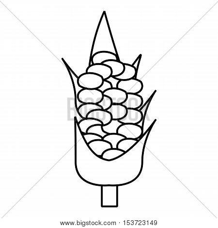Corncob icon. Outline illustration of corncob vector icon for web