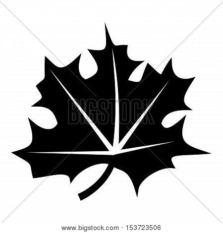 Canadian maple leaf icon. Simple illustration of canadian maple leaf vector icon for web