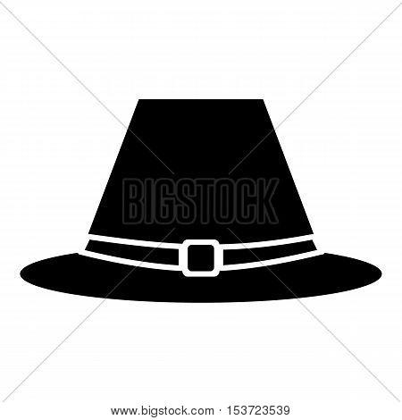 Pilgrim hat icon. Simple illustration of pilgrim hat vector icon for web