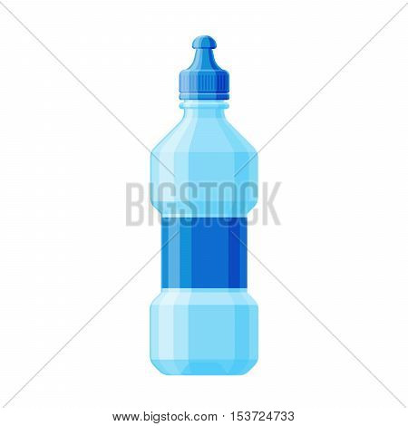 Water bottle vector illustration. Water bottle drink isolated and clean water bottle. Fresh water fitness equipment health container. Plastic water bottle for drink clean