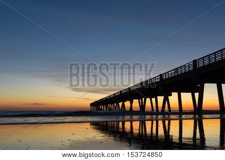 Jacksonville Beach Fishing Pier in the Early Morning