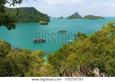 Tropical sea landscape at Koh Angthong island, Thailand