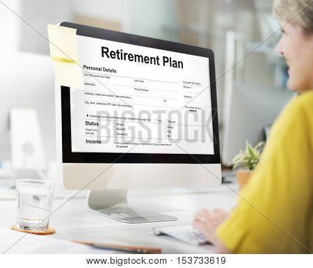 Retirement Plan Loan Liability Tax Form Concept
