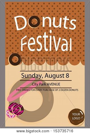 This is a poster of the festival donut design suitable as a handout