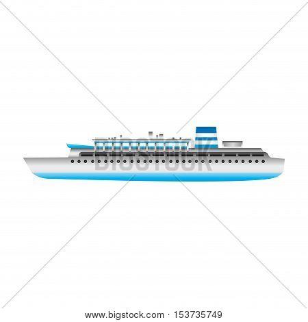 tourism cruiseship icon image vector illustration design