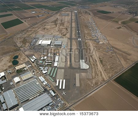Aerial of Goodyear Airport in Goodyear, Arizona poster