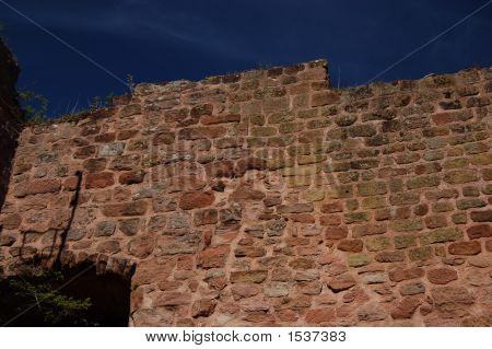 Old Nanstein Castle Wall Ruins
