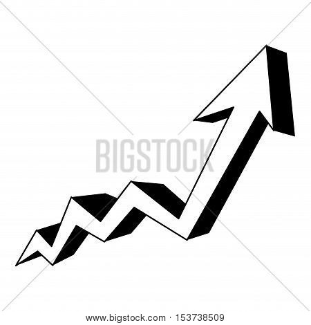 grap growth arrow icon image vector illustration design