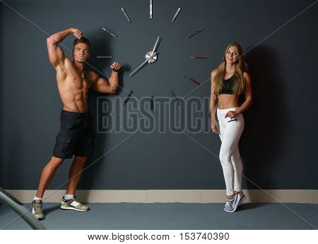 It's time to practice. Sexy athletes promoting the concept