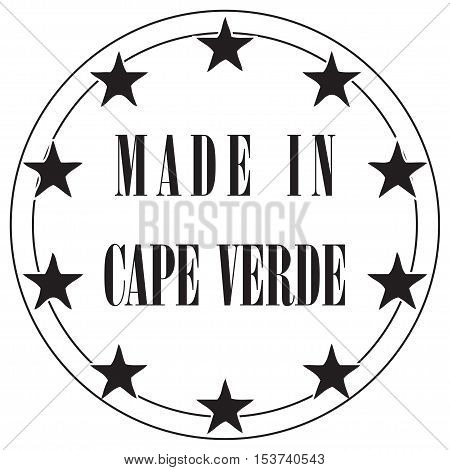 Round the stamp imprint of Made in Cape Verde. poster