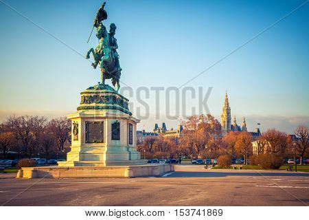 Archduke Charles (Erzherzog Karl) monument in Vienna, Austria