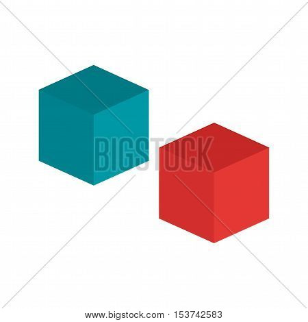 Cube, web, technology icon vector image. Can also be used for web. Suitable for use on web apps, mobile apps and print media.