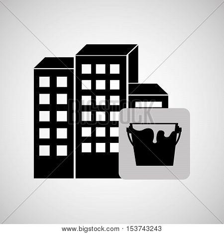 construction reapir building painting icon design vector illustration eps 10