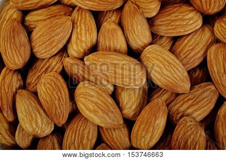 almonds nuts snack food at on background