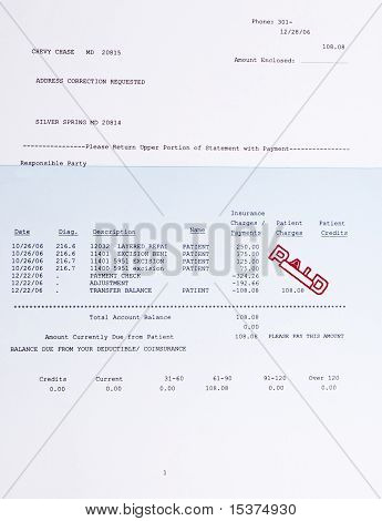 American Medical Bill Mole Procedure