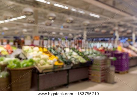 sale, shopping, food, consumerism and grocery - vegetable market blurred out of focus background with bokeh