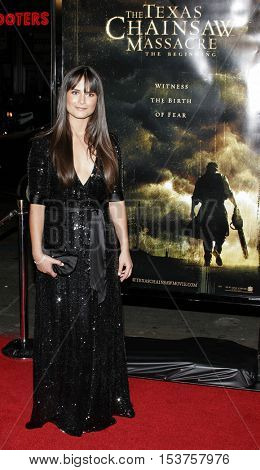 Jordana Brewster at the Los Angeles premiere of 'The Texas Chainsaw Massacre: The Beginning' held at the Grauman's Chinese Theater in Hollywood, USA on October 5, 2006.