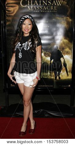 Jelynn Rodriguez at the Los Angeles premiere of 'The Texas Chainsaw Massacre: The Beginning' held at the Grauman's Chinese Theater in Hollywood, USA on October 5, 2006.