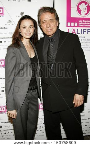 Mia Maestro and Edward James Olmos at the LALIFF screening of 'Chagas: A Hidden Affliction' held at the Egyptian Arena Theatre in Hollywood, USA on October 7, 2006.