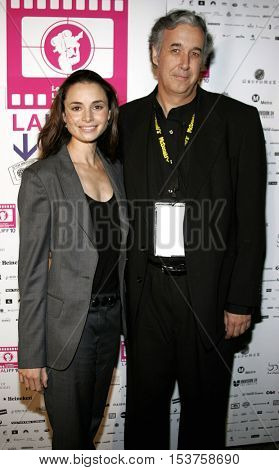 Mia Maestro and director Ricardo Preve at the LALIFF screening of 'Chagas: A Hidden Affliction' held at the Egyptian Arena Theatre in Hollywood, USA on October 7, 2006.