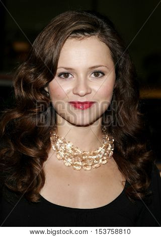 Sasha Cohen at the Los Angeles premiere of 'Man of the Year' held at the Grauman's Chinese Theater in Hollywood, USA on October 4, 2006.