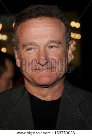 Robin Williams at the Los Angeles premiere of 'Man of the Year' held at the Grauman's Chinese Theater in Hollywood, USA on October 4, 2006.