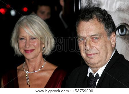 Helen Mirren and Stephen Frears at the Los Angeles premiere of 'The Queen' held at the Academy of Motion Picture Arts and Sciences in Beverly Hills, USA on October 3, 2006.