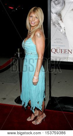 Donna D'Errico at the Los Angeles premiere of 'The Queen' held at the Academy of Motion Picture Arts and Sciences in Beverly Hills, USA on October 3, 2006.