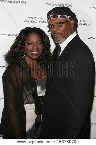 Samuel L. Jackson at the Archbishop Desmond Tutu's 75th Birthday Party held at the Regent Beverly Wilshire Hotel in Beverly Hills, USA on September 18, 2006.