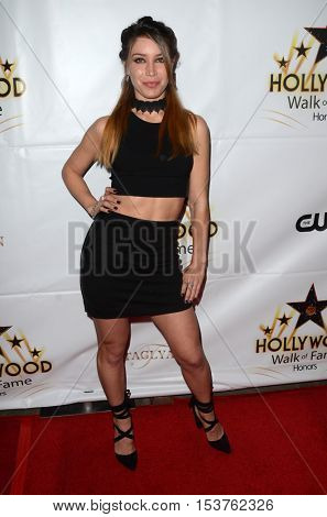 LOS ANGELES - OCT 25:  Celeste Fianna at the Hollywood Walk of Fame Honors at Taglyan Complex on October 25, 2016 in Los Angeles, CA