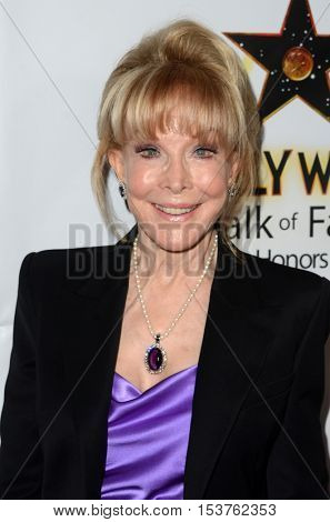 LOS ANGELES - OCT 25:  Barbara Eden at the Hollywood Walk of Fame Honors at Taglyan Complex on October 25, 2016 in Los Angeles, CA
