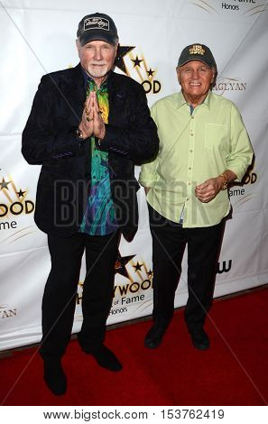 LOS ANGELES - OCT 25:  Mike Love, Bruce Johnson at the Hollywood Walk of Fame Honors at Taglyan Complex on October 25, 2016 in Los Angeles, CA