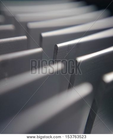 Extreme close up of passive computer cooler
