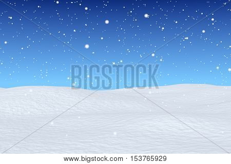 Snowfall Over Snow Field