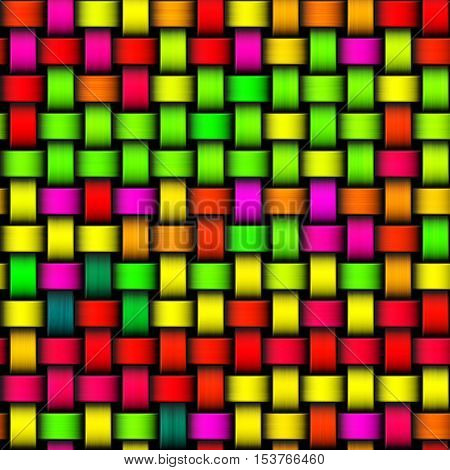 Colorful crazy bright green yellow pink red modern texture