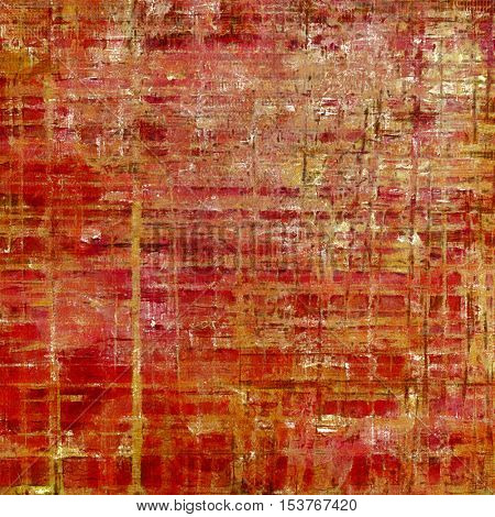 Abstract vintage background with faded grungy texture. Aged backdrop with different color patterns: yellow (beige); brown; red (orange); pink