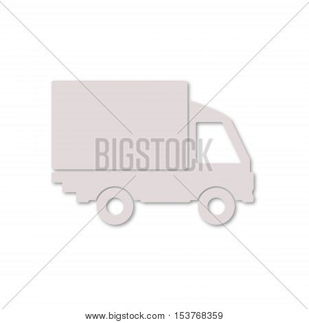 Simple Vector Truck icon on white background