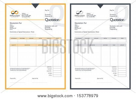 Vector quotation design template. Modern quotation template.