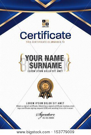 Certificate vector luxury template, Certificate, Diploma, success.