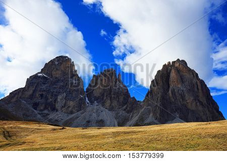 Image of Sassolungo, South Tirol, Dolomites Mountains, Italy, Europe
