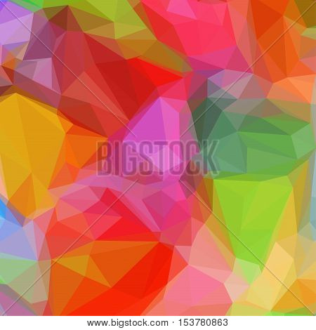 Abstract Triangle Geometrical Red Background, Colorful Illustration