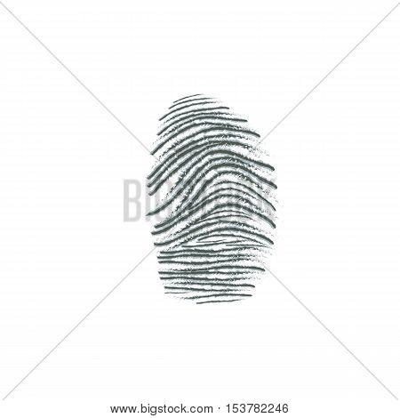 fingerprint dactylogram finger-mark vector illustration  on white background
