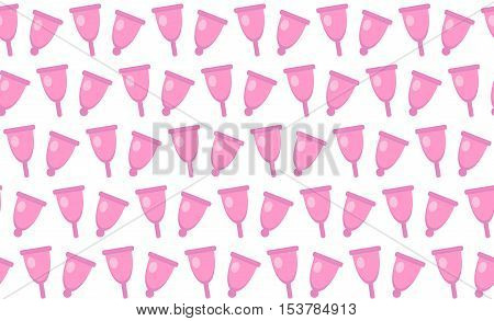 Menstrual cup seamless pattern. Menstrual cup seamless texture background. Vector illustration