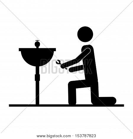 contractor or handy man icon image vector illustration design
