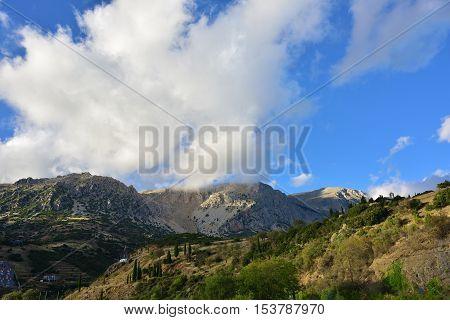 The Mount Parnassus. Greece