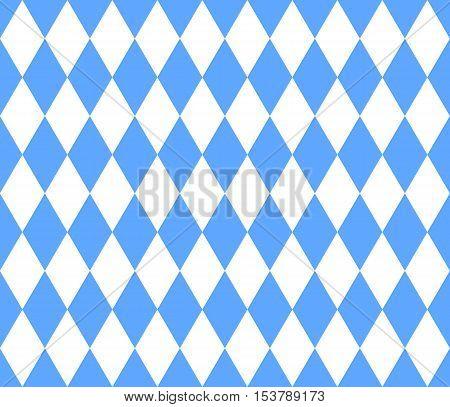 Seamless bavarian background light blue and white