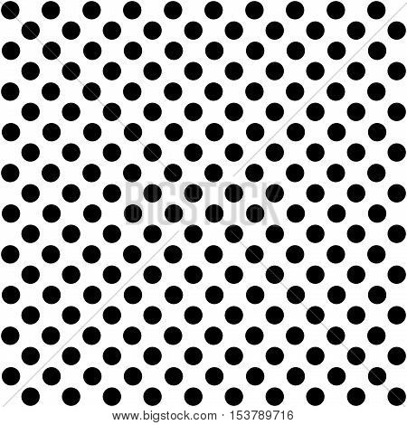 White background with seamless small black dots