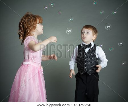 The little boy and the girl