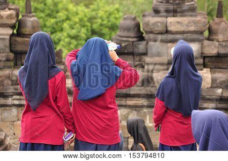 Borobudur a Buddhist temple in Yogyakarta inscribed on the UNESCO heritage list