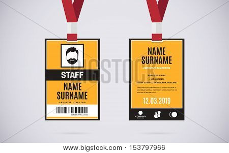 Event Staff Id Card Vector Photo Free Trial Bigstock - Free lanyard template